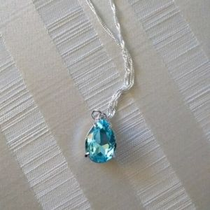 Jewelry - Blue Ice Pear-Shaped Necklace